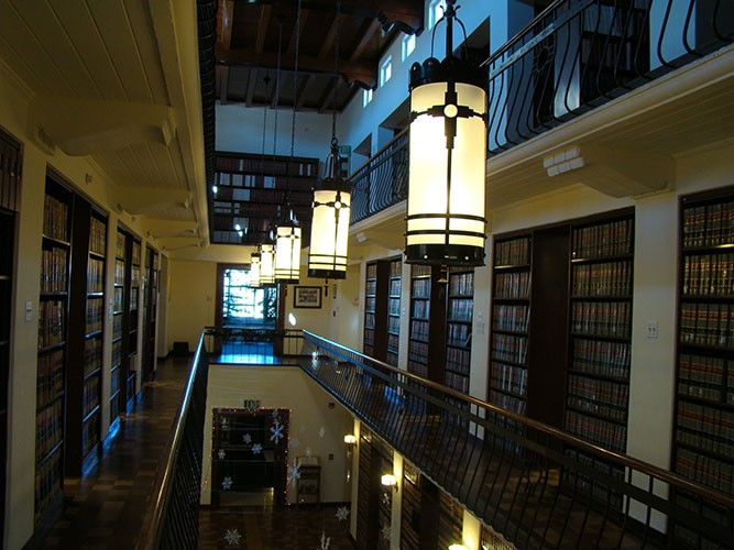 LAW LIBARY LIGHTS FROM BALCONY